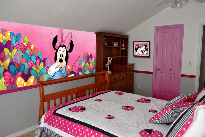 Minnie Mouse Banner Style Mural And Removable Adjesive Frame Cover Part 13